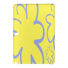 Doodle Shapes Large Flower Floral Grey Yellow Samsung Galaxy Tab Pro 10 1 Hardshell Case by Alisyart