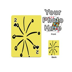 Doodle Shapes Large Line Circle Black Yellow Playing Cards 54 (mini)  by Alisyart