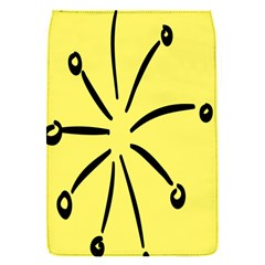 Doodle Shapes Large Line Circle Black Yellow Flap Covers (s)  by Alisyart