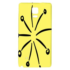 Doodle Shapes Large Line Circle Black Yellow Galaxy Note 4 Back Case