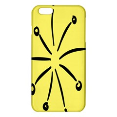 Doodle Shapes Large Line Circle Black Yellow Iphone 6 Plus/6s Plus Tpu Case by Alisyart