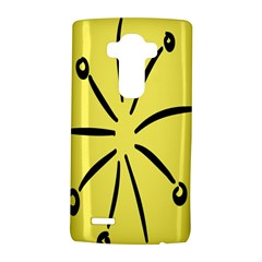 Doodle Shapes Large Line Circle Black Yellow Lg G4 Hardshell Case
