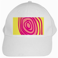 Doodle Shapes Large Line Circle Pink Red Yellow White Cap
