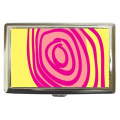 Doodle Shapes Large Line Circle Pink Red Yellow Cigarette Money Cases