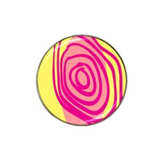 Doodle Shapes Large Line Circle Pink Red Yellow Hat Clip Ball Marker (4 Pack) by Alisyart