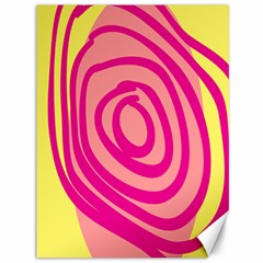Doodle Shapes Large Line Circle Pink Red Yellow Canvas 36  X 48