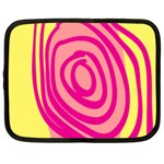 Doodle Shapes Large Line Circle Pink Red Yellow Netbook Case (XXL)  Front