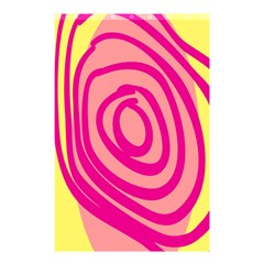 Doodle Shapes Large Line Circle Pink Red Yellow Shower Curtain 48  X 72  (small)  by Alisyart