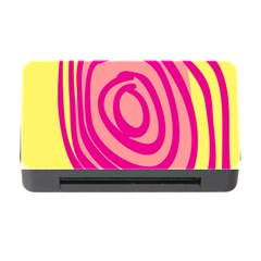 Doodle Shapes Large Line Circle Pink Red Yellow Memory Card Reader With Cf by Alisyart