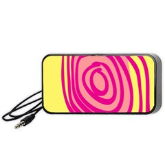 Doodle Shapes Large Line Circle Pink Red Yellow Portable Speaker (black) by Alisyart