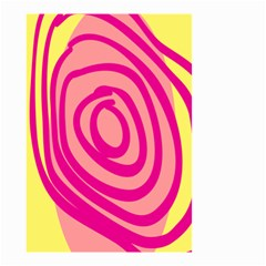 Doodle Shapes Large Line Circle Pink Red Yellow Small Garden Flag (two Sides) by Alisyart