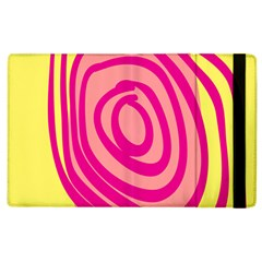Doodle Shapes Large Line Circle Pink Red Yellow Apple Ipad 2 Flip Case by Alisyart