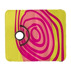 Doodle Shapes Large Line Circle Pink Red Yellow Galaxy S3 (flip/folio)