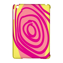 Doodle Shapes Large Line Circle Pink Red Yellow Apple Ipad Mini Hardshell Case (compatible With Smart Cover)