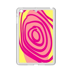 Doodle Shapes Large Line Circle Pink Red Yellow Ipad Mini 2 Enamel Coated Cases