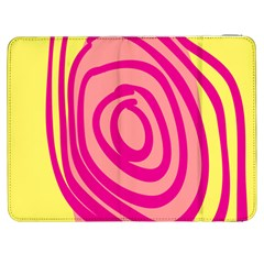 Doodle Shapes Large Line Circle Pink Red Yellow Samsung Galaxy Tab 7  P1000 Flip Case