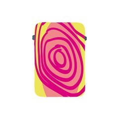 Doodle Shapes Large Line Circle Pink Red Yellow Apple Ipad Mini Protective Soft Cases by Alisyart