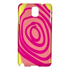 Doodle Shapes Large Line Circle Pink Red Yellow Samsung Galaxy Note 3 N9005 Hardshell Case