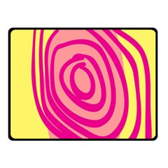 Doodle Shapes Large Line Circle Pink Red Yellow Double Sided Fleece Blanket (small)  by Alisyart