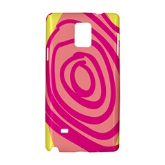Doodle Shapes Large Line Circle Pink Red Yellow Samsung Galaxy Note 4 Hardshell Case by Alisyart