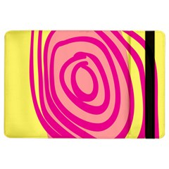 Doodle Shapes Large Line Circle Pink Red Yellow Ipad Air 2 Flip by Alisyart
