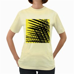 Doodle Shapes Large Scratched Included Women s Yellow T Shirt by Alisyart