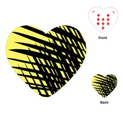 Doodle Shapes Large Scratched Included Playing Cards (heart)  by Alisyart