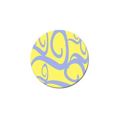 Doodle Shapes Large Waves Grey Yellow Chevron Golf Ball Marker (4 Pack) by Alisyart