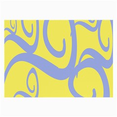Doodle Shapes Large Waves Grey Yellow Chevron Large Glasses Cloth (2 Side) by Alisyart