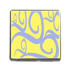 Doodle Shapes Large Waves Grey Yellow Chevron Memory Card Reader (square) by Alisyart