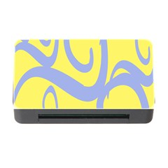Doodle Shapes Large Waves Grey Yellow Chevron Memory Card Reader With Cf by Alisyart