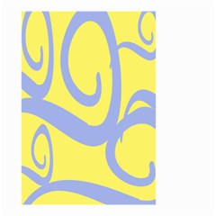Doodle Shapes Large Waves Grey Yellow Chevron Small Garden Flag (two Sides)