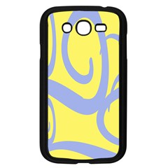 Doodle Shapes Large Waves Grey Yellow Chevron Samsung Galaxy Grand Duos I9082 Case (black) by Alisyart