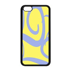 Doodle Shapes Large Waves Grey Yellow Chevron Apple Iphone 5c Seamless Case (black)