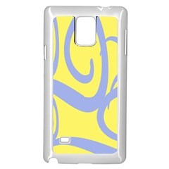 Doodle Shapes Large Waves Grey Yellow Chevron Samsung Galaxy Note 4 Case (white) by Alisyart