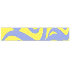 Doodle Shapes Large Waves Grey Yellow Chevron Flano Scarf (large) by Alisyart