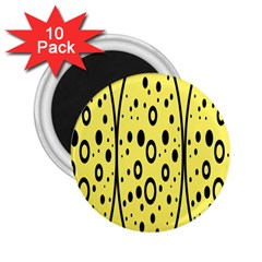 Easter Egg Shapes Large Wave Black Yellow Circle Dalmation 2 25  Magnets (10 Pack)