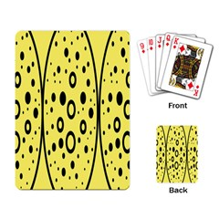 Easter Egg Shapes Large Wave Black Yellow Circle Dalmation Playing Card by Alisyart