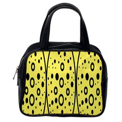 Easter Egg Shapes Large Wave Black Yellow Circle Dalmation Classic Handbags (one Side) by Alisyart