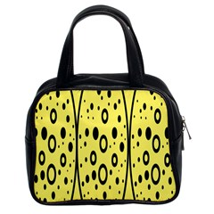 Easter Egg Shapes Large Wave Black Yellow Circle Dalmation Classic Handbags (2 Sides) by Alisyart