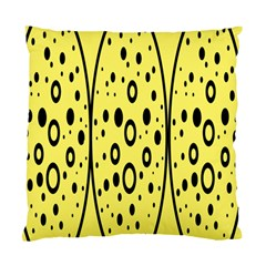 Easter Egg Shapes Large Wave Black Yellow Circle Dalmation Standard Cushion Case (one Side)