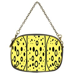 Easter Egg Shapes Large Wave Black Yellow Circle Dalmation Chain Purses (two Sides)  by Alisyart