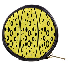 Easter Egg Shapes Large Wave Black Yellow Circle Dalmation Mini Makeup Bags by Alisyart