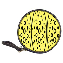 Easter Egg Shapes Large Wave Black Yellow Circle Dalmation Classic 20 Cd Wallets
