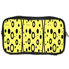 Easter Egg Shapes Large Wave Black Yellow Circle Dalmation Toiletries Bags 2 Side by Alisyart