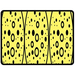 Easter Egg Shapes Large Wave Black Yellow Circle Dalmation Fleece Blanket (large)