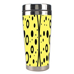 Easter Egg Shapes Large Wave Black Yellow Circle Dalmation Stainless Steel Travel Tumblers by Alisyart