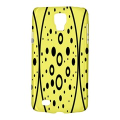 Easter Egg Shapes Large Wave Black Yellow Circle Dalmation Galaxy S4 Active by Alisyart