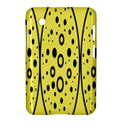 Easter Egg Shapes Large Wave Black Yellow Circle Dalmation Samsung Galaxy Tab 2 (7 ) P3100 Hardshell Case  by Alisyart