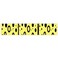 Easter Egg Shapes Large Wave Black Yellow Circle Dalmation Flano Scarf (small) by Alisyart